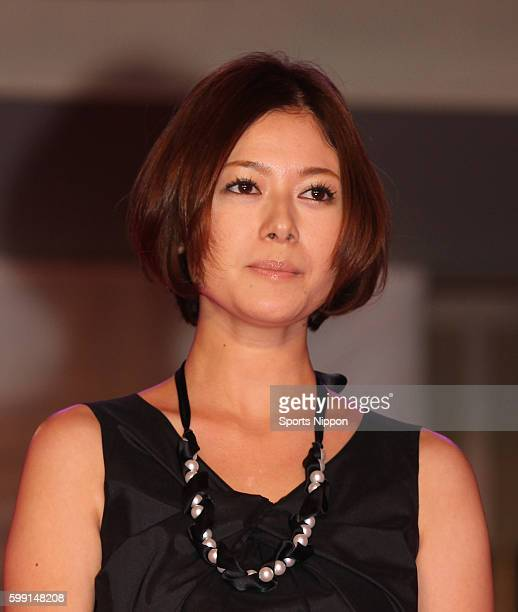 Actress Yoko Maki attends preview screening party of the 'Moteki' on August 30 2011 in Tokyo Japan