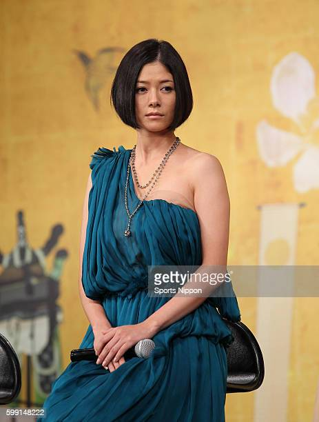 Actress Yoko Maki attends the 'Genji Monogatari Sennen no Nazo' press conference on November 7 2011 in Tokyo Japan