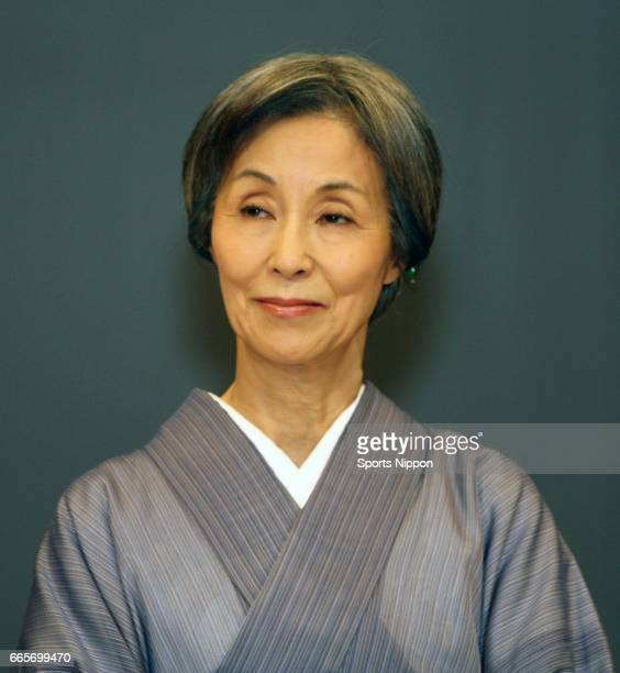 Actress Yoko Nogiwa attends press conference of TV Asahi drama 'Dandy Daddy' on July 7 2009 in Tokyo Japan