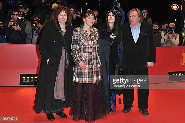 Actress Yolande Moreau actress Miss Ming actress Isabelle Adjani and actor Gerard Depardieu attend the 'Mammuth' Premiere during day nine of the 60th...