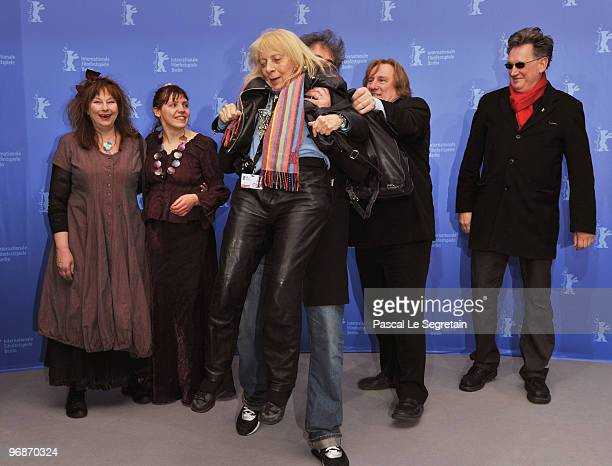 Actress Yolande Moreau actress Miss Ming director Gustave de Kervern photographer Erika Rabau actor Gerard Depardieu and director Benoit Delepine...