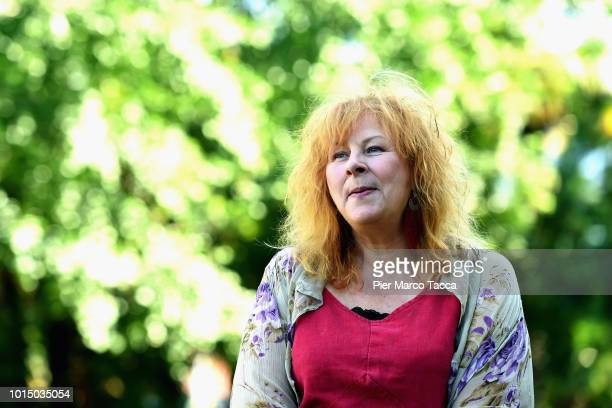 Actress Yolande Moreau attends the 'I Feel Good' photocall during the 71st Locarno Film Festival on August 11 2018 in Locarno Switzerland