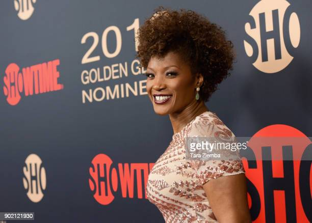 Actress Yolonda Ross attends the Showtime Golden Globe Nominees Celebration at Sunset Tower on January 6 2018 in Los Angeles California