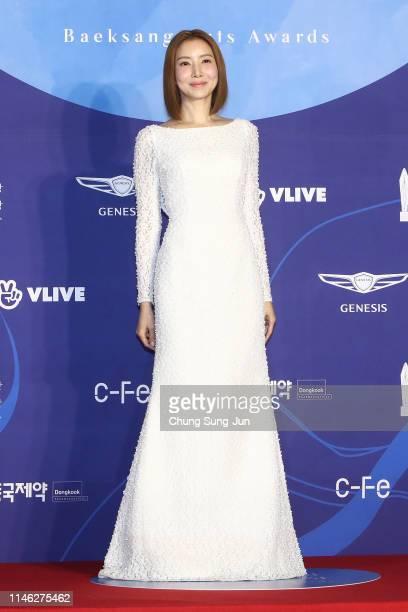 Actress Yoon Se-a attends the 55th Baeksang Arts Awards at COEX D Hall on May 01, 2019 in Seoul, South Korea.