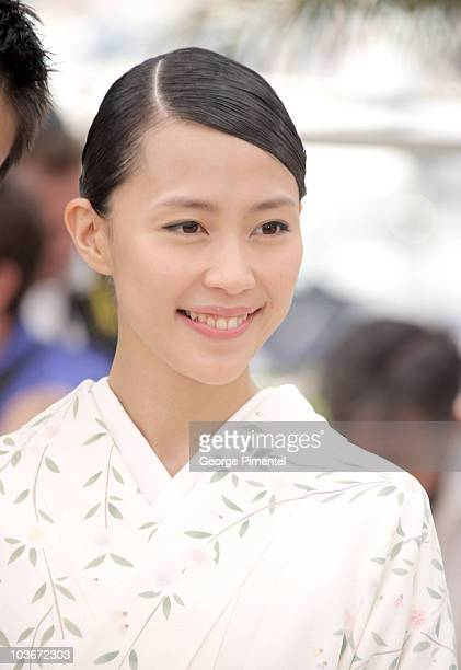 Actress Yoshino Kimura attends the Blindness photocall during the 2008 Cannes Film Festival on May 14 2008 in Cannes France