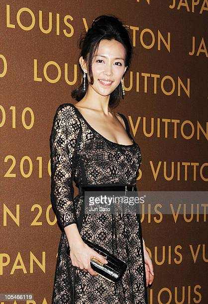 Actress Yoshino Kimura attends the Louis Vuitton Leather and Craftsmanship event at Tabloid on October 14 2010 in Tokyo Japan
