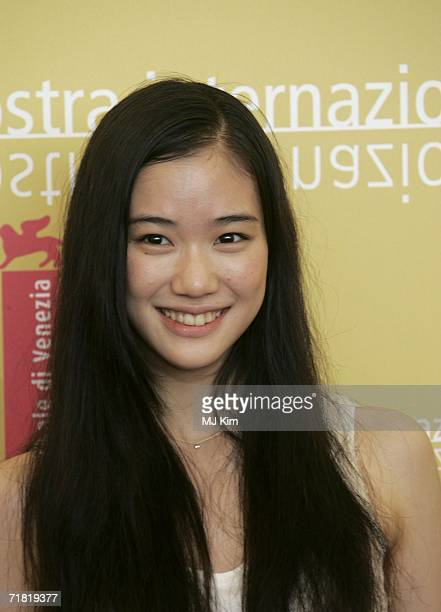 Actress Yu Aoi attends a photocall to promote the film 'Mushishi' during the tenth day of the 63rd Venice Film Festival on September 8 2006 in Venice...