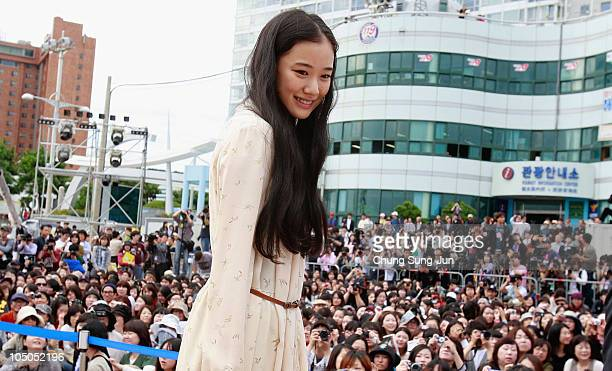 Actress Yu Aoi attends at a meet and greet for 'The Man from Nowhere' during the 15th Pusan International Film Festival on October 8 2010 in Busan...