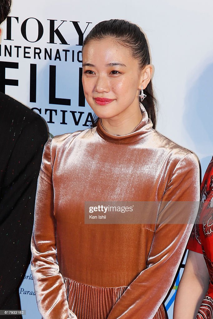 Actress Yu Aoi attends the Tokyo International Film Festival 2016 Opening Ceremony at Roppongi Hills on October 25, 2016 in Tokyo, Japan.