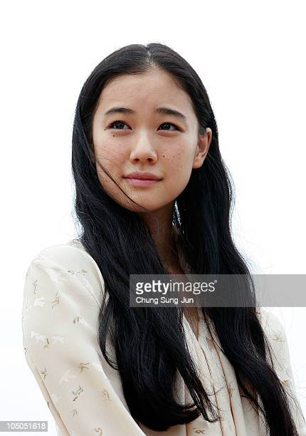 Actress Yu Aoi looks on at a meet and greet for 'The Man from Nowhere' during the 15th Pusan International Film Festival on October 8 2010 in Busan...