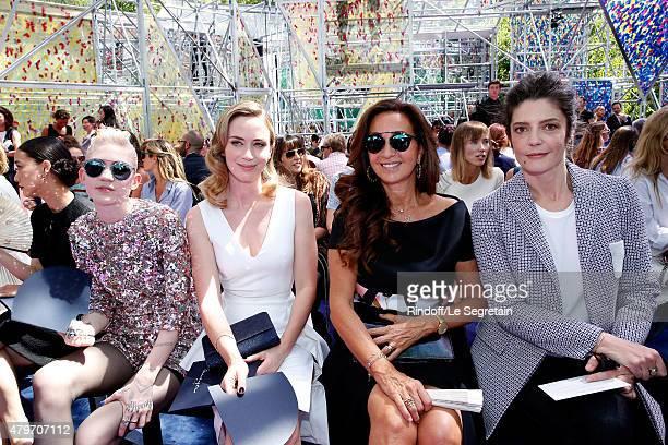 Actress Yu Aoi Musician Grimes Actress Emily Blunt Katia Toledano and Actress Chiara Mastroianni attend the Christian Dior show as part of Paris...