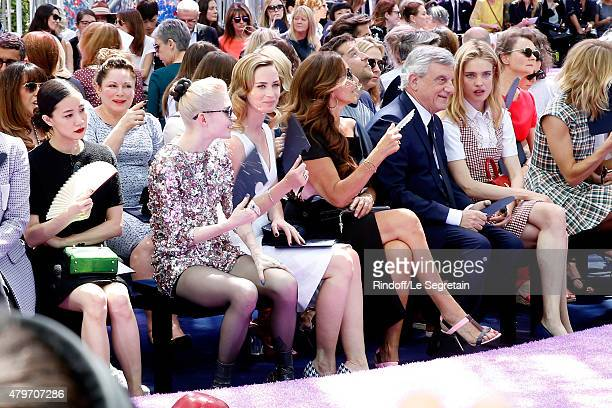 Actress Yu Aoi Musician Grimes Actress Emily Blunt Katia Toledano her husband CEO Dior Sidney Toledano and Natalia Vodianova attend the Christian...