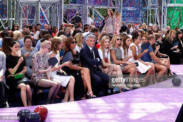 Actress Yu Aoi Musician Grimes Actress Emily Blunt Katia Toledano her husband CEO Dior Sidney Toledano Natalia Vodianova and Model Rosie...