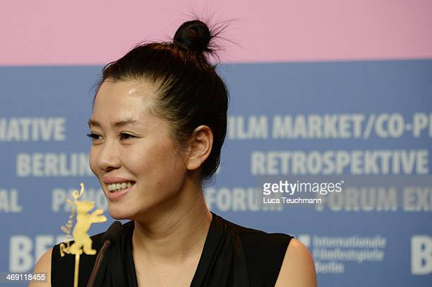 Actress Yu Nan attends the 'No Man's Land' press conference during 64th Berlinale International Film Festival at Grand Hyatt Hotel on February 13...
