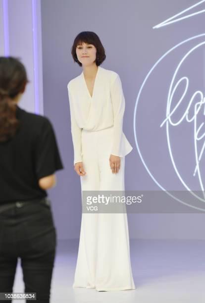 Actress Yuan Quan attends a Lancome event on September 16, 2018 in Nanjing, Jiangsu Province of China.