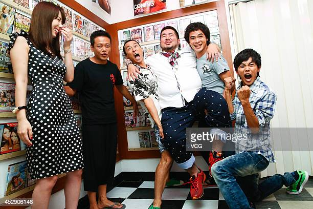 Actress Yui Hatano and Takuya record new movie on July 28 2014 in Taipei Taiwan of China
