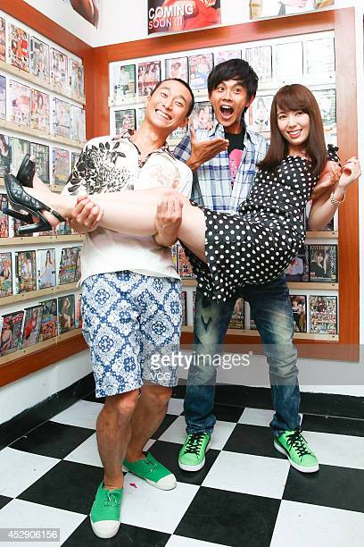 Actress Yui Hatano records new movie on July 28 2014 in Taipei Taiwan of China
