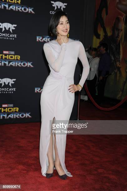 Actress Yuki Amami attends the premiere of Disney and Marvel's 'Thor Ragnarok' on October 10 2017 at the El Capitan Theater in Hollywood California