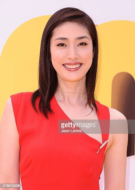 Actress Yuki Amami attends the premiere of 'Minions' at The Shrine Auditorium on June 27 2015 in Los Angeles California
