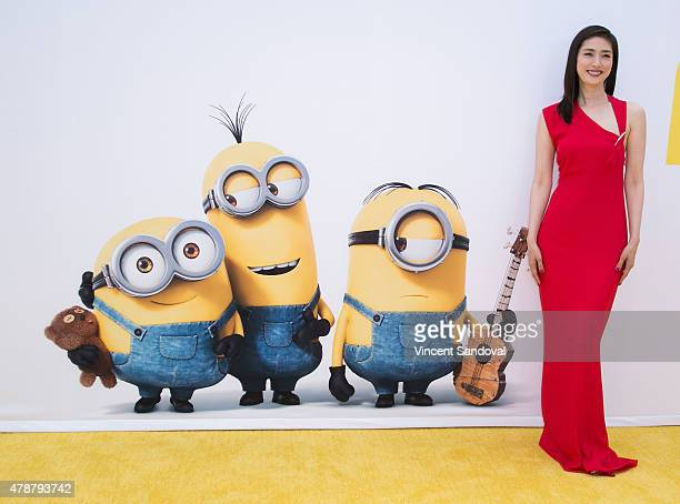 Actress Yuki Amami attends the premiere of Universal Pictures and Illumination Entertainment's 'Minions' at The Shrine Auditorium on June 27 2015 in...