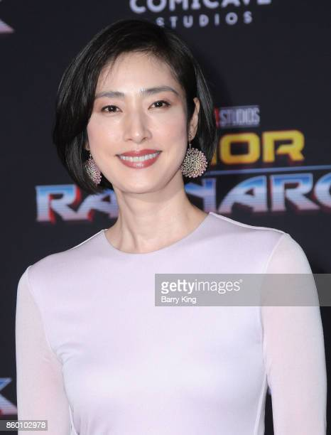 Actress Yuki Amami attends the World premiere of Disney and Marvel's 'Thor Ragnarok' at El Capitan Theatre on October 10 2017 in Los Angeles...