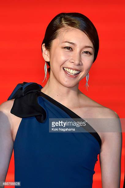 Actress Yuko Takeuchi attends the opening ceremony of the Tokyo International Film Festival 2015 at Roppongi Hills on October 22, 2015 in Tokyo,...