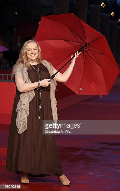 Actress Yuliya Aug attends the 'Celestial wives of the Meadow Mari' Premiere during the 7th Rome Film Festival at Auditorium Parco Della Musica on...