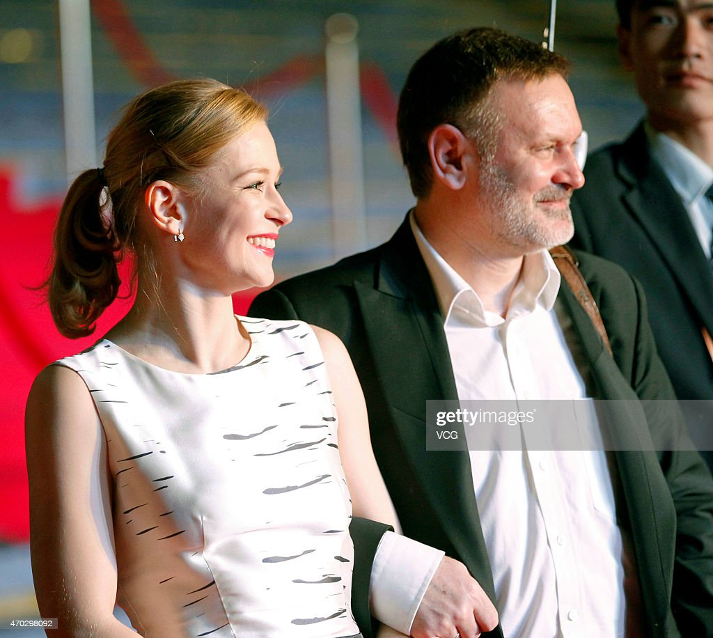 Actress Yuliya Peresild and actor Sergeiy Mokritskiy attend the 5th Beijing International Film Festival on April 18, 2015 in Beijing, China.