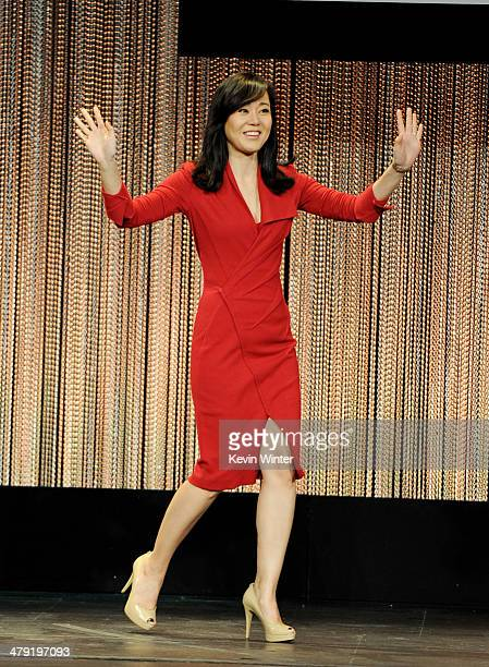"""Actress Yunjin Kim appears onstage at The Paley Center Media's PaleyFest 2014 Honoring """"Lost"""" 10th Anniversary Reunion at the Dolby Theatre on March..."""
