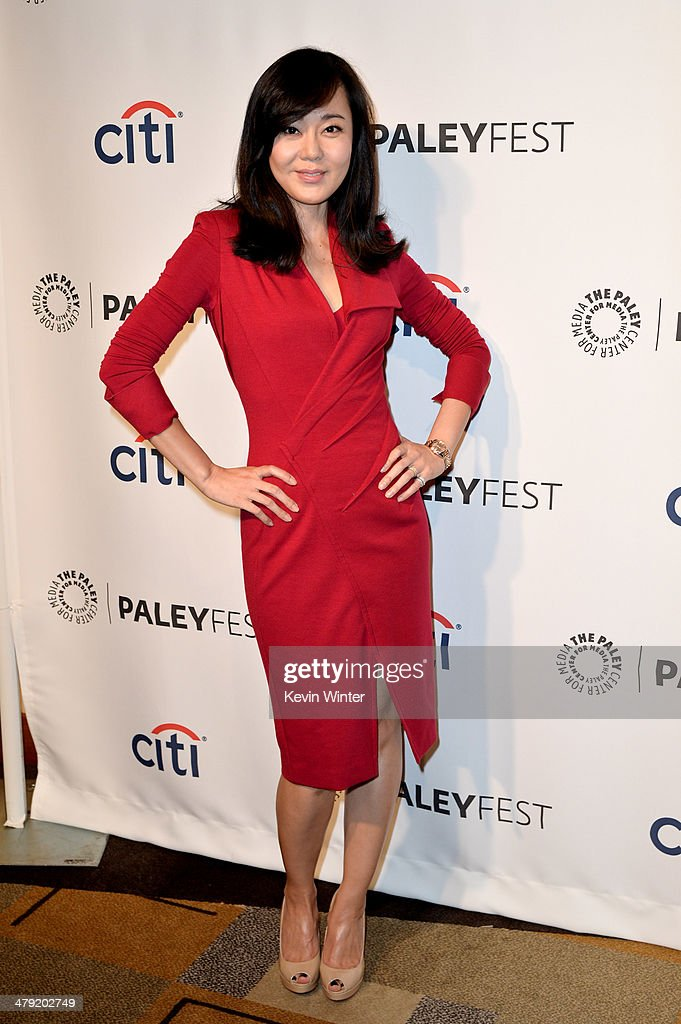 Actress Yunjin Kim arrives at The Paley Center Media's PaleyFest 2014 Honoring 'Lost' 10th Anniversary Reunion at the Dolby Theatre on March 16, 2014 in Los Angeles, California.