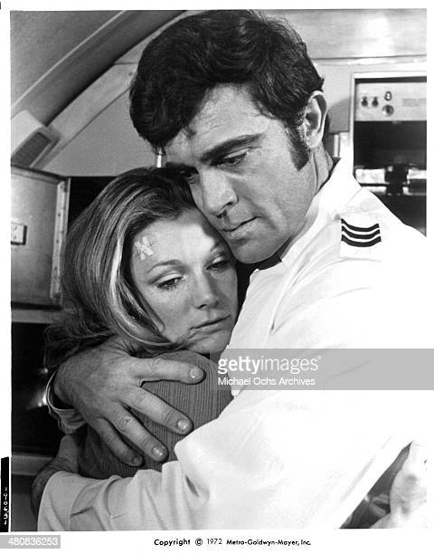 Actress Yvette Mimieux in a scene from the movie Skyjacked circa 1972