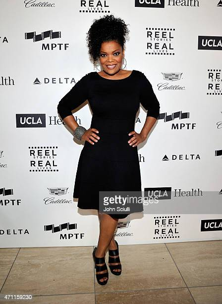 Actress Yvette Nicole Brown attends the 4th Annual Reel Stories Real Lives benefiting the Motion Picture Television Fund at Milk Studios on April 25...