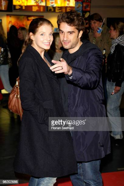 Actress Yvonne Catterfeld and actor Oliver Wnuk attend the premiere of 'Waffenstillstand' at cinema Kulturbrauerei on April 1, 2010 in Berlin,...