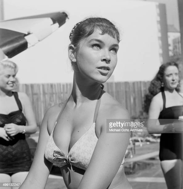 Actress Yvonne Craig poses for Young Mothers in Los Angeles California