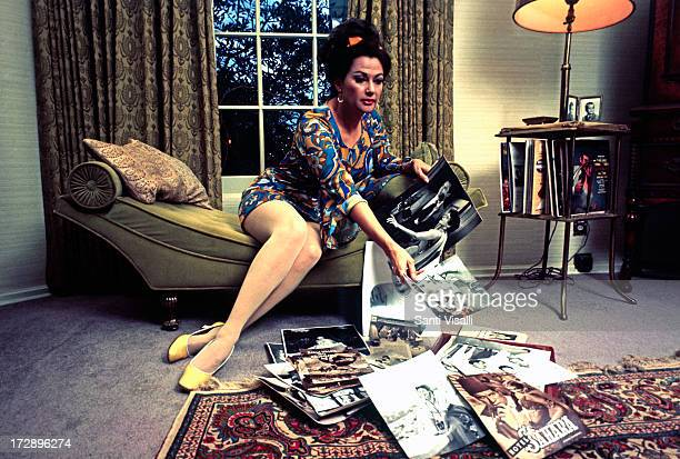 Actress Yvonne De Carlo at home on February 231970 in Hollywood California