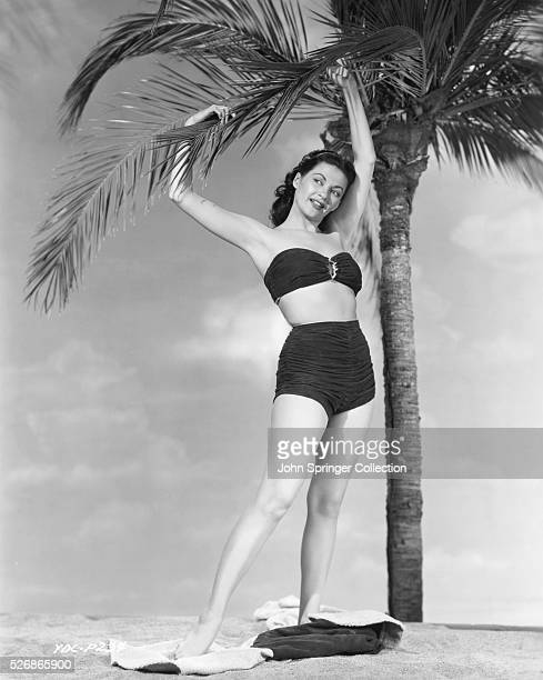 Actress Yvonne De Carlo at the time of her appearance in the 1950 movie Tomahawk
