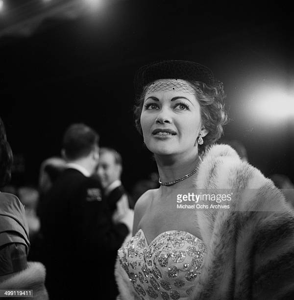 Actress Yvonne De Carlo attends a Mt Sinai party in Los Angeles California