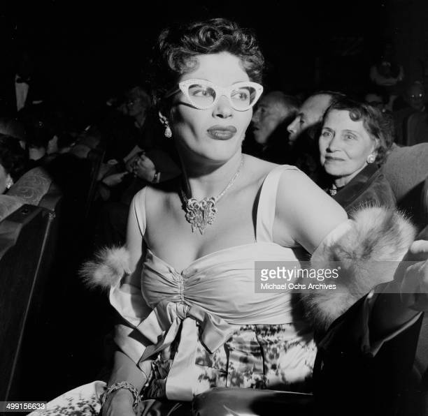 Actress Yvonne De Carlo attends a premiere in Los Angeles California