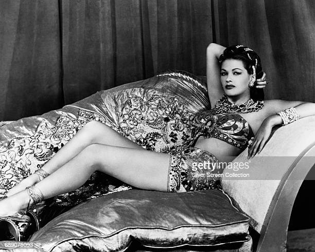 Actress Yvonne De Carlo in a publicity still for the film 'Song of Scheherazade' 1947