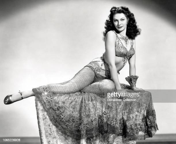 Actress Yvonne De Carlo in a scene from the movie Salome Where She Danced