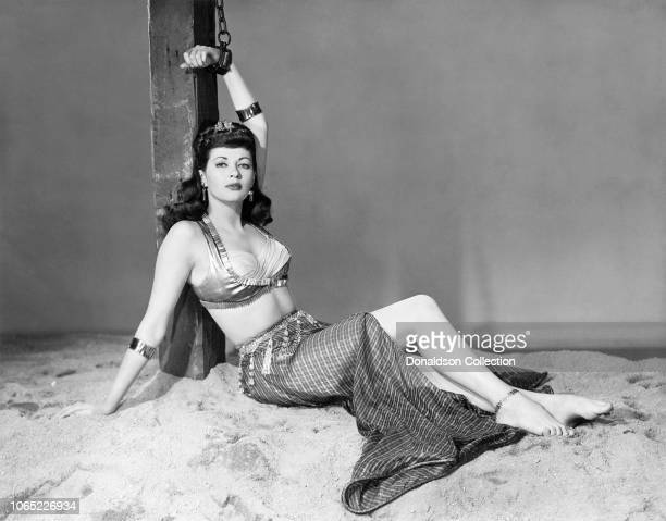 Actress Yvonne De Carlo in a scene from the movie Slave Girl