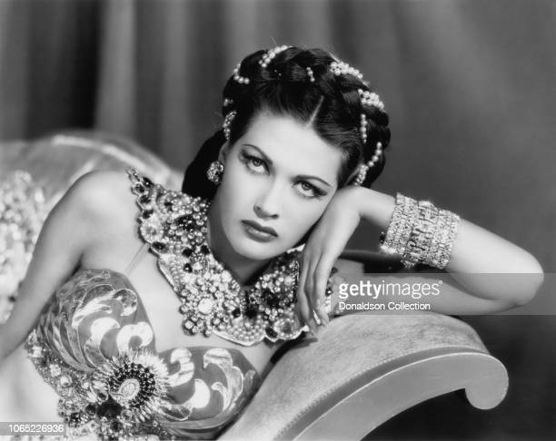 Actress Yvonne De Carlo in a scene from the movie Song of Scheherazade