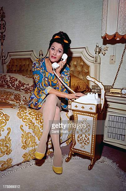 Actress Yvonne De Carlo on the phone on February 231970 in Hollywood California