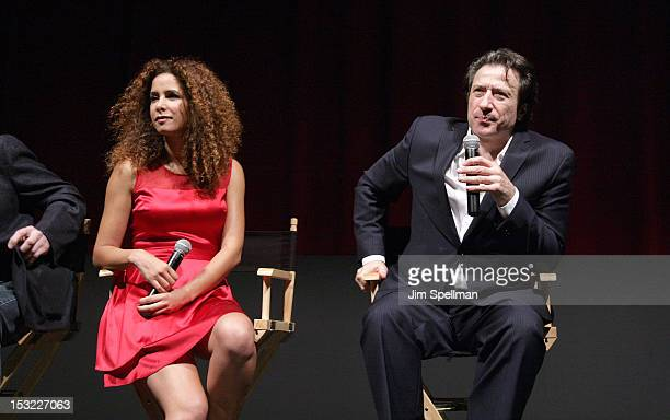 Actress Yvonne Maria Schaefer and actor/director Federico Castelluccio attend the 'Keep Your Enemies Closer Checkmate' screening at the School of...