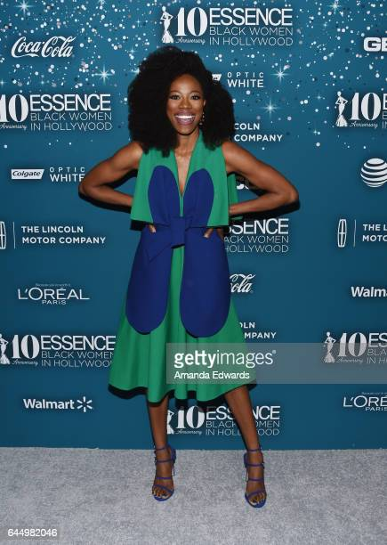 Actress Yvonne Orji arrives at the Essence 10th Annual Black Women in Hollywood Awards Gala at the Beverly Wilshire Four Seasons Hotel on February...