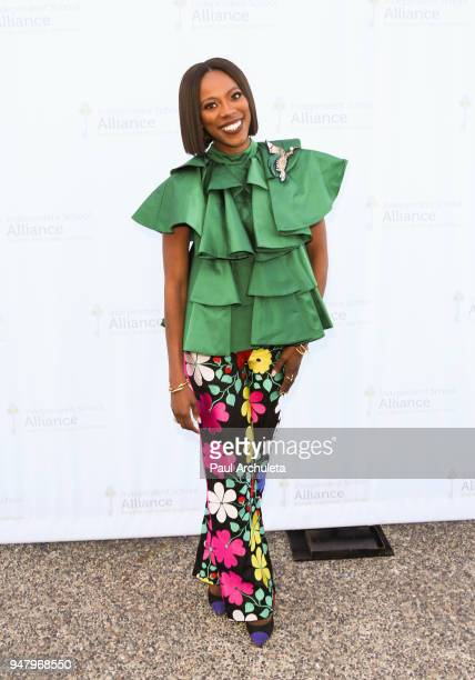 Actress Yvonne Orji attends the Independent School Alliance For Minority Affairs annual Impact Awards dinner at The Broad Stage on April 17 2018 in...