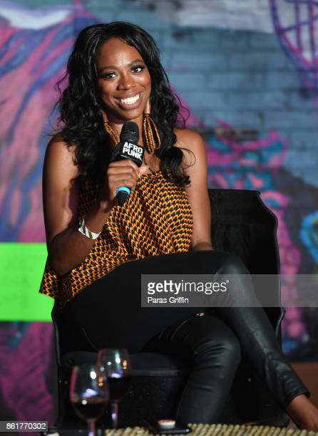 Actress Yvonne Orji speaks onstage at 2017 AfroPunk Festival Atlanta at Mechanicsville on October 15 2017 in Atlanta Georgia