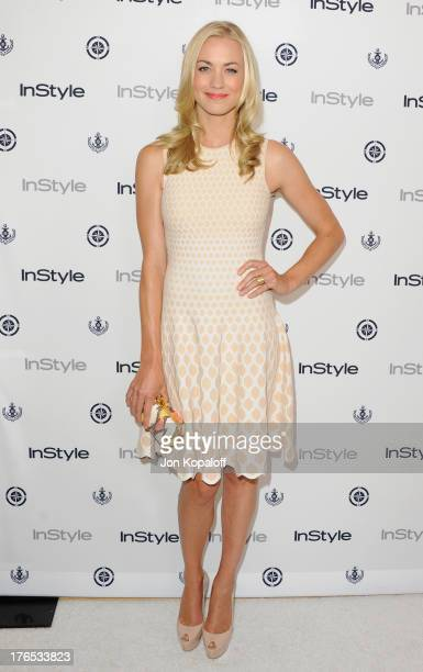 Actress Yvonne Strahovski arrives at the 13th Annual InStyle Summer Soiree at Mondrian Los Angeles on August 14, 2013 in West Hollywood, California.