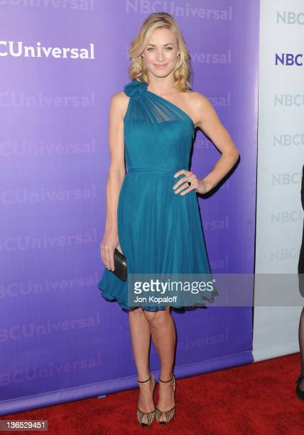 Actress Yvonne Strahovski arrives at the NBC Universal AllStar Party at The Athenaeum on January 6 2012 in Pasadena California