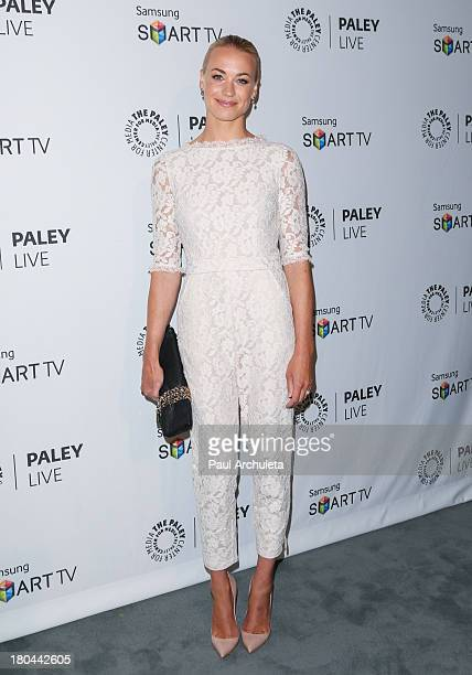 Actress Yvonne Strahovski attends PaleyFest Previews 'Dexter' at The Paley Center for Media on September 12 2013 in Beverly Hills California